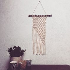Hanging wall macrame wall hanging by Wildmacrame on Etsy