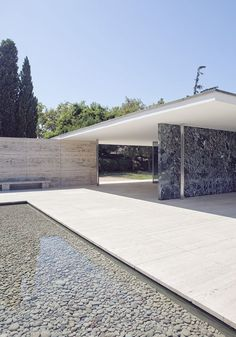 German Pavilion Barcelona by Ludwig Mies van der Rohe ::1929