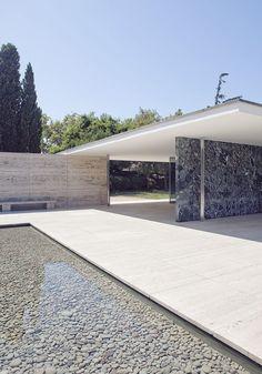 German Pavilion Barcelona by Ludwig Mies van der Rohe ::1929