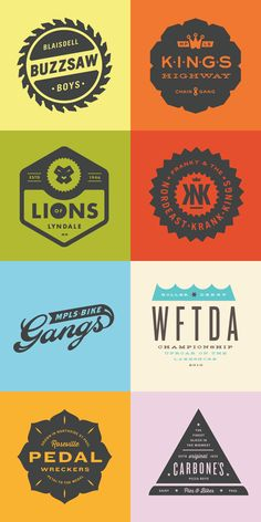 Creative graphics designed for different projects.