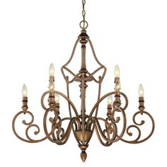 Have to have it. Designers Fountain 85689-ABS Isla 9 Light Chandelier - 31W in. - Aged Brass - $798 @hayneedle