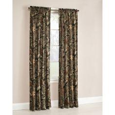 The Boy wants a camo/hunter theme bedroom. Mossy Oak Break-Up Infinity Window Curtain Panels, Set of 2 or Valance