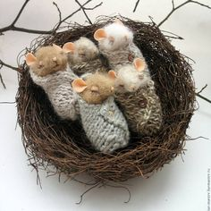 "Gefällt 839 Mal, 20 Kommentare - FELTING | HANDMADE (@bm_felting) auf Instagram: ""Sleepy mice by @live_tales  . Сонные мышки от @live_tales  . Follow @best_masterpiece Tag us…"""