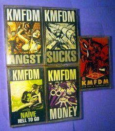 KMFDM - NAIVE, SUCKS, ANGST, MONEY, PIG, 5 Cassettes
