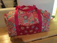 Sewing: Vera Bradley -esque Duffel Bags | Pre quilted fabric ... : pre quilted fabric projects - Adamdwight.com