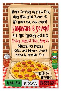 Pizza Party Invitation Wording Best Of Free Printable Pizza Party Invitation Template Free Printable Birthday Invitations, Kids Birthday Party Invitations, Invitation Templates, Printable Party, Invitation Wording, Invitation Ideas, Pizza Party Birthday, Adult Birthday Party, 3rd Birthday