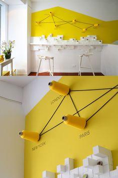 wandgestaltung in gelb