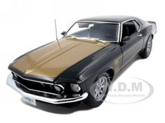 1969 Ford Mustang Boss 302 Smokey Tribute Car Diecast Car Model 1/18 Black/Gold Die Cast Car 1 of 600 Made by Highway 61. $99.99