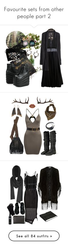 """""""Favourite sets from other people part 2"""" by morbid-octobur ❤ liked on Polyvore featuring H&M, Yang Li, Miss Selfridge, Erika Cavallini Semi-Couture, Goti, Wolford, Antler, Aurum By Gudbjorg, Black & Brown London and Golden Goose"""