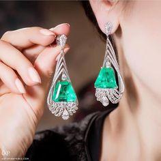 Vir Jewels cttw Certified Diamond Stud Earrings White Gold with Screw Backs – Fine Jewelry & Collectibles Emerald Earrings, Emerald Jewelry, Ear Jewelry, High Jewelry, Luxury Jewelry, Jewelry Stores, Jewelry Art, Antique Jewelry, Silver Jewelry