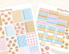 Cookies and milk Printable Planner Stickers by EnjoyPlanning