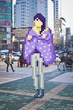 On the Street. - Street Fashion of Pixel World created by Serene Weather