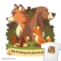Forever is a Long Time | Shirtoid #disney #film #geekydog #movies #thefoxandthehound