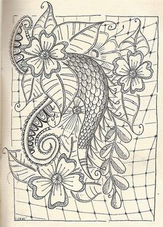 Just doodling by kraai65, via Flickr  by Loes van Voorthuijsen