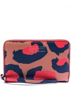 Marc by Marc Jacobs Sophisticato Leopard Print Wingman Wallet | Accessories | Liberty.co.uk