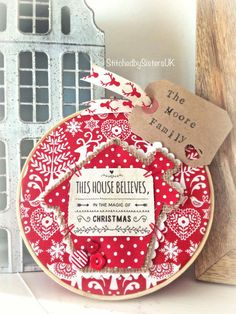 Handmade this house believes christmas hoop by StitchedbySistersuk