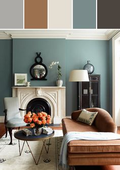 Living Room Paint Color Designed By Lisa Perrone   Stylyze Creative Director via Stylyze