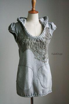 Women's hoodie / Cotton hoodie / crochet hoodie / hooded by KayLim