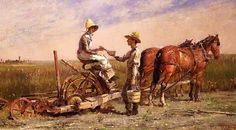 It's About Time: A Bacon Theodore Robinson (American painter, Haying, 1884 Monet, Theodore Robinson, Oil Painting Reproductions, New Artists, American Women, Art Oil, Lovers Art, Horses, Fine Art