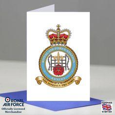 RAF Kirknewton Station Crest Badge Presentation Promotion Retirement Card Gift