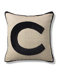 Love: Natural Letter C Cushion