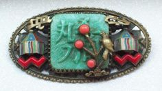 Unusual double pagoda brooch by Max Neiger.  Photograph by Neiger Collectors Club.