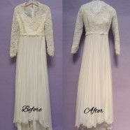 Your vintage wedding gown can be perfectly white again! #restoration #weddinggown