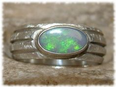 Opal Ring 925 Sterling Silver Ring for men and women - handmade goldsmith work