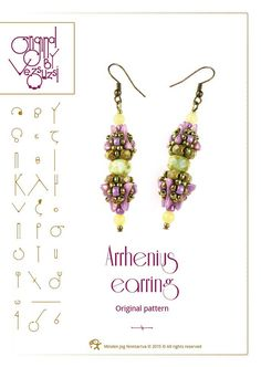*P Beading tutorial Arrhenius earring with by beadsbyvezsuzsi on Etsy