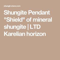 "Shungite Pendant ""Shield"" of mineral shungite | LTD Karelian horizon"