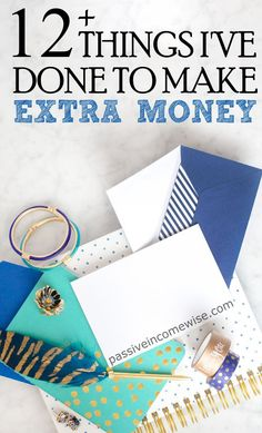 This list describes some of the ways I used to do to make more money, however, some of them I still do. Make money, save money, financial freedom and frugality.
