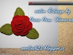 Uncinetto fiore 2: Rosa per una bomboniera - YouTube