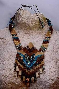 Brown turquoise with dicroic beads  The beautiful beads inspired this necklace.
