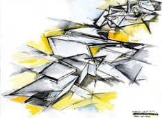 Daniel Libeskind - sketch of Connecticut House, 2010