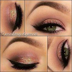 Pretty, simple, glittery makeup