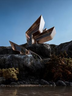 Veliz Arquitecto: The house based on the lightness of its shape, breaking with traditional codes and adapting to the landscape like rocks that are fragmented by the sea and carved by the breezes. #architecture #architect #amazingarchitecture #design #interiordesign #interiordesigner #decor #homedecor #home #house #luxury #diy #travel #amazing #photography #realestate #casa #arquitecto #arquitectura #decoration #cuba #sea #nature #cliff #cliffhouse #render #3d #cgi #archviz #seashore…