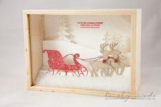 3D Bilderrahmen mit Weihnachtsschlitten von Stampin' Up!, #stampin' up! #weihnachtsschitten