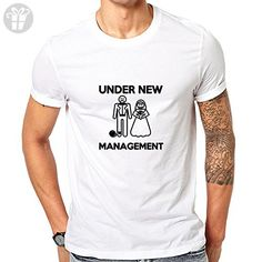 GullPrint Men's Under New Management Wedding Funny T Shirt Large White - Birthday shirts (*Amazon Partner-Link)