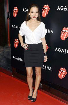 Ana Fernández, de blanco y negro para una ocasión especial en la fiesta Agatha