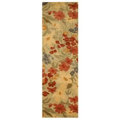 Eorc Tfo363iv2x6 2 X 6 Hand Tufted Wool Ivory Josie Runner Yellow Pattern