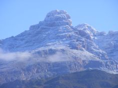 Towerkop at Ladismith, Little Karoo covered in snow