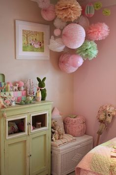 A cute space which plays with different textures, patterns and colors.