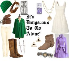 Legend of Zelda outfits! oh my gosh so cute!! :D