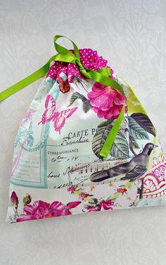 7fb5e3bdf634 This pretty drawstring Bag is perfect for use as a lingerie bag