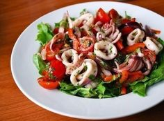 Cooking recipe Salad of squid with olives