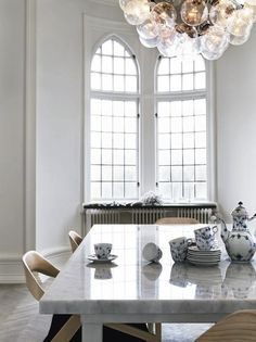 Marble Dining Table #sweden #homedecor #interiordesign