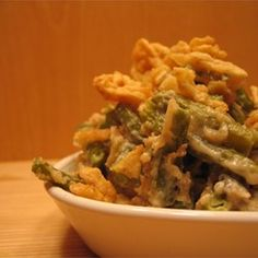 Easy, creamy green bean casserole that doesn't use canned soup. Make it for Thanksgiving or any festive family dinner.