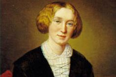 George Eliot, wearing just the sceptical look I like to picture her with