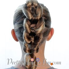 Pretty Hair is Fun: Split Chain Braid elastic braid; pull through braid; how to braid; french braid; dutch braid; hair; hairstyles for long hair; school ; wedding; prom, homecoming