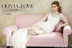 Olivia Palermo in Elie Saab Ready-to-Wear Spring Summer 2014 shot by Matt Jones for Brides Magazine June/July 2014